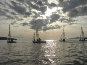 Evening Tasar sailing with The Viking Sailing Club in Vancouver