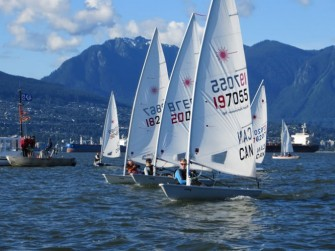 Laser dinghy racing in Vancouver