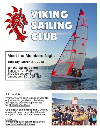 /homepages/26/d233055401/htdocs/www.vikingsailingclub.bc.ca/wp content/uploads/2018 Vikings Meet the Members Night Poster lg