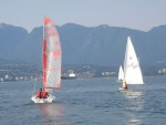 Sailing on English Bay with the Vikings